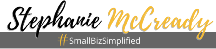 Stephanie McCready, The Small Biz Simplifier Logo